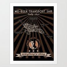 Mid bulk transport ship poster Art Print
