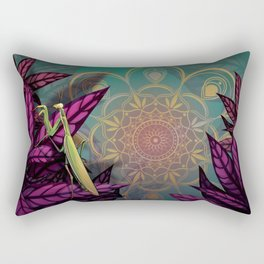 Praying Mantis Rectangular Pillow