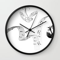 cage Wall Clocks featuring Cage by Nato Gomes