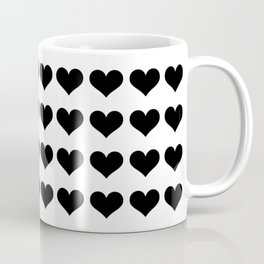 Mini Black Hearts Coffee Mug