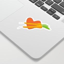 Carrot Heart Sticker