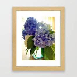 Hydrangea Bouquet Framed Art Print