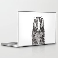 badger Laptop & iPad Skins featuring Badger by Meredith Mackworth-Praed