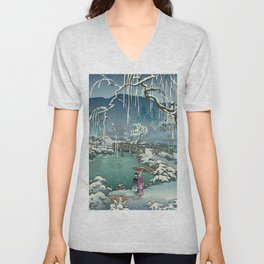 Ukiyo-e: Yuri on Ice Unisex V-Neck