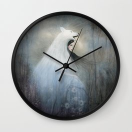 wolf princess Wall Clock
