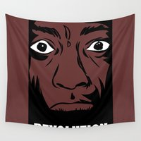political Wall Tapestries featuring political revolution, fight for your rights by gran mike