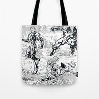 comics Tote Bags featuring Comics by Burg