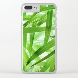 530 - Abstract Grass design Clear iPhone Case