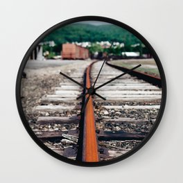 Along the rails. Wall Clock