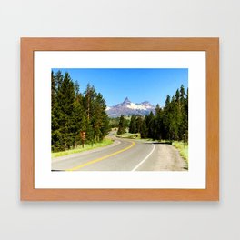 The Road to Pilot and Index Framed Art Print