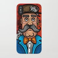 moustache iPhone & iPod Cases featuring Moustache by Manouk van Eesteren