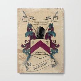 Barton Coat of Arms Metal Print
