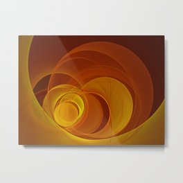 Warmth, Fractal Art Abstract Metal Print