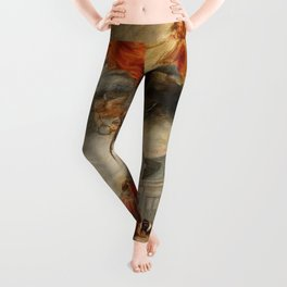 Classic painting of the saints Leggings