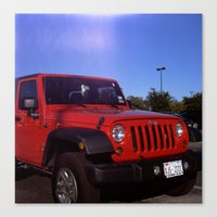 jeep Canvas Prints featuring Jeep by Keyao