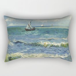 Seascape near Les Saintes-Maries-de-la-Mer Rectangular Pillow