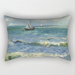 Seascape near Les Saintes-Maries-de-la-Mer Rectangular Pillow