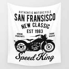 authentic motorcycle Wall Tapestry