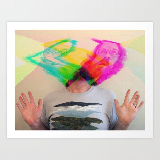 my mind is blown Art Print