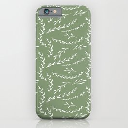 Vines on Green iPhone Case