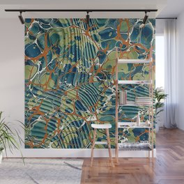 Old Marbled Paper 05 Wall Mural
