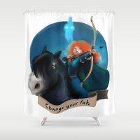 merida Shower Curtains featuring Merida by Fla'Fla'