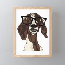 Hipster Goat Framed Mini Art Print