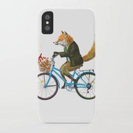 Fox goes to Tea (white) iPhone Case