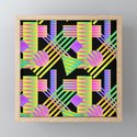 Neon Ombre 90's Striped Shapes by elliottdesignfactory