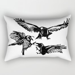 Crow Parliament Rectangular Pillow
