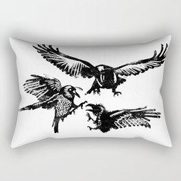 Crow Parliament Rectangular Pillow