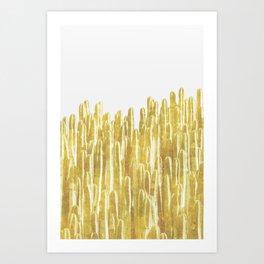 Golden Cactus Art Print