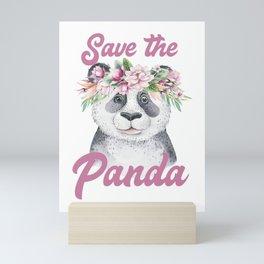Save the Panda -#2 Mini Art Print