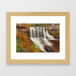 Blackwater Autumn Falls Framed Art Print