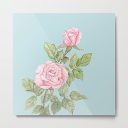 Garden Roses in Bloom Metal Print