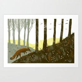 Fox on the Trail Art Print