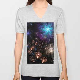Astral Flowers Unisex V-Neck