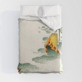 Frog in the swamp  - Vintage Japanese Woodblock Print Art Duvet Cover