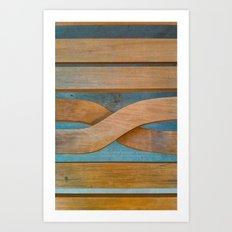 Cross the Wood Art Print