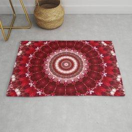Mandala red Hearts Rug