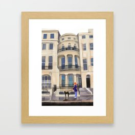 Brighton Flat Framed Art Print