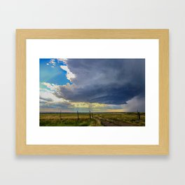 July Storm, Valley County, Montana Framed Art Print