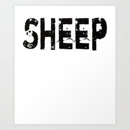 Black Sheep graphic Family Outcast Sarcastic Funny Humor print Art Print
