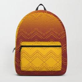 Deep Golden Sunset Ombre Geometric Backpack