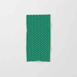 Bubble Pattern in Green Hand & Bath Towel