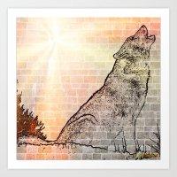 Wolf frame Art Print
