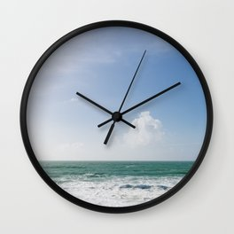 Beautiful Blue sky day over the north Cornish Coast. Wall Clock