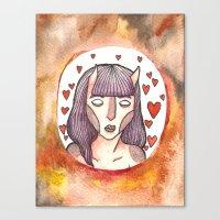 devil Canvas Prints featuring Devil by Jazmine Phillips