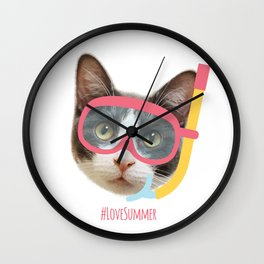 Love Summer Wall Clock