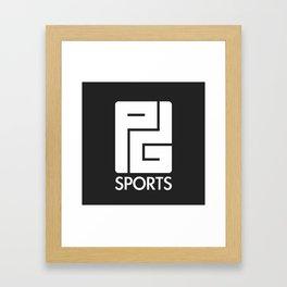 PG Sports (Black) Framed Art Print